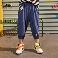 【2件3折:62.7元】小虎宝儿男童牛仔七分裤2021夏季新款儿童哈伦裤中大童装薄款短裤