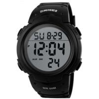 户外运动男士电子手表数字LED夜光防水游泳闹钟手表