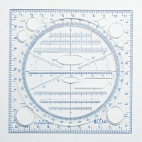 中学生新款多功能绘图万花尺绘图仪尺函数立体几何规平行椭圆模板 新款 惠山多功能绘图尺