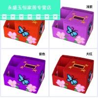 3D十字绣抽纸盒新款客厅立体绣收纳盒纸巾盒毛线手工绣储物合 蝴蝶收纳盒 橙色