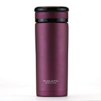 富光紫砂生态杯 260ml不锈钢外壳创意带盖 防漏男女办公泡茶水杯