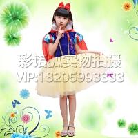 新款万圣节白雪公主裙 儿童迪士尼表演服装 女童圣诞节演出服礼服