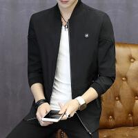 男士外套秋季新款薄个性潮流秋韩版修身运动秋装外衣男装夹克