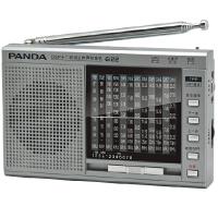 熊猫 6122 全波段迷你便携式老人插卡收音机校园广播MP3