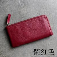 钱包女长款头层牛皮拉链男手包时尚韩版软皮手机包手拿包