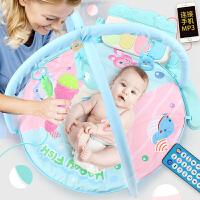 音乐游戏毯玩具0-1岁3-6-12个月脚踏钢琴婴儿健身架器宝宝