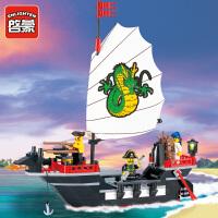 儿童益智玩具海盗系列301玩具小颗粒拼装积木拼插模型6-10岁