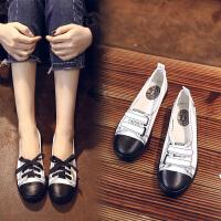 2018春季新款学生小白鞋女百搭韩版懒人鞋浅口帆布鞋女鞋