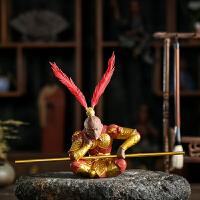 创意陶瓷茶宠摆件精品紫砂齐天大圣斗战胜佛猴子茶玩功夫茶道配件