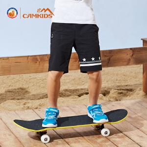 CAMKIDS2018夏季新款男童户外运动裤透气中大童速干裤七分裤