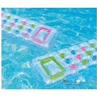 水上浮床躺椅INTEX扶手靠背游泳充气床58802成人海滩浮排