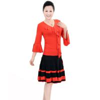 春夏广场舞服装    女式广场舞舞蹈服 广场舞服装演出服长袖大码舞蹈服