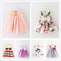女宝宝夏装连衣裙0-1-2-3岁女童夏季吊带背心裙子婴儿童装公主裙