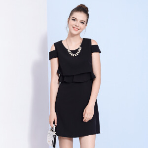 zdorzi卓多姿夏装新款显瘦修身甜美可爱纯色女连衣裙732588