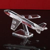 家居摆件 水晶飞机模型 商务礼品 创意摆件 工艺品 摆件家居饰品