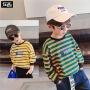 【119元4件:29.8元】左西童装男童长袖T恤2020新款儿童打底衫条纹春装上衣中大童洋气
