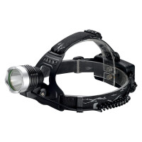 户外T6头灯强光远射夜钓灯鱼灯防水led钓鱼头戴式充电头灯 黑色