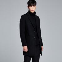 秋冬男士毛呢大衣外套韩版修身男装风衣中长款妮子大衣青年英伦潮