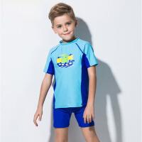 男孩平角泳裤男 男童泳衣分体中大童儿童套装宝宝游泳衣