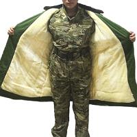 军大衣冬款加厚加长版防寒服保暖防潮内充棉可拆卸内里 均码