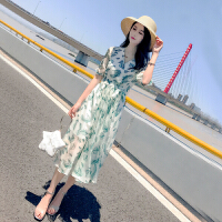 很仙的法国小众连衣裙长裙2019新款夏季小碎花雪纺连衣裙中长款
