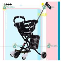 三角形简易轻便携儿童折叠三轮婴儿手推车带刹车遛娃五轮