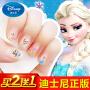 迪士尼儿童卡通指甲贴女宝宝防水无毒美甲安全贴冰雪奇缘指甲贴纸