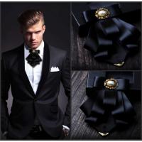 金色包角多层蝴蝶结领结 结婚新郎伴郎婚礼领花男士商务正装领结