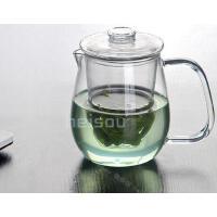 HEISOU 玻璃茶壶500毫升 耐高温过滤泡茶杯加热泡花茶壶茶具茶器