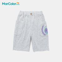 马卡乐童装2021年夏新款男童全棉精致绣花宽松休闲时尚中裤