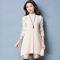 半高领毛衣女中长款秋冬装新款宽松百搭韩版套头长袖针织衫打底衫