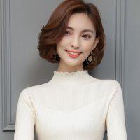 半高领羊毛衫女套头短款新款韩版毛衣加厚保暖修身打底衫针织