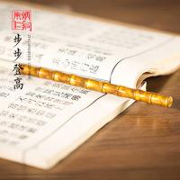 朱炳仁铜 竹节笔铜笔 艺术摆件家居装饰书房文具精品收藏