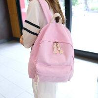 双肩包女韩版书包女帆布背包粉色时尚包学院风百搭中学生包包迷你 支持礼品卡支付
