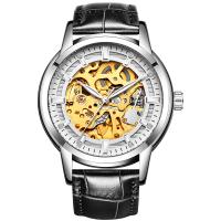 手表男机械表男士炫酷双面镂空夜光机械手表运动学生男手表