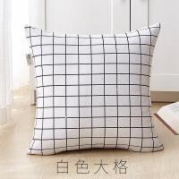 棉麻抱枕卡通靠垫方形抱枕套芯午休靠枕护腰靠垫沙发抱枕靠垫抖音