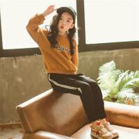韩国童装春秋2018男女童长袖T恤哈伦裤中大儿童纯棉运动套装