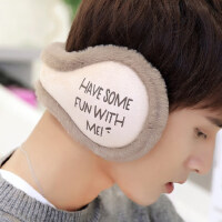 冬季保暖耳罩男女�n版耳套耳包后戴可折�B情�H耳暖�o耳朵套�於�帽