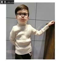 男童高领毛衣潮款纯色儿童毛线衫男宝宝秋冬装新款针织打底衫童装