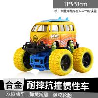 迷你越野车Q版赛车儿童汽车玩具可开门惯性巴士男孩回力车2-3-6岁