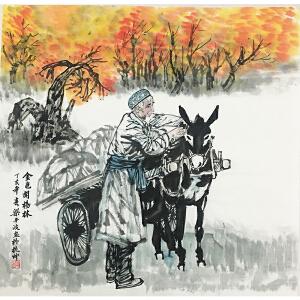 梁平波《金色胡杨林》著名画家