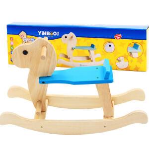 【【领券立减50元】米米智玩 宝宝彩色摇马小木马实木 婴儿木马摇椅摇摇马 1岁宝宝儿童玩具活动专属