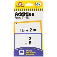 Evan-Moor Learning Line Flashcards Addition Facts 11-18 加州教