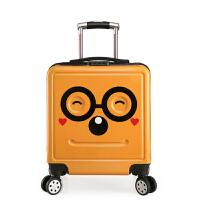 拉杆箱 男女儿童卡通表情笑脸万向轮杆箱209年新款防水透气抗震登机箱旅行行李箱