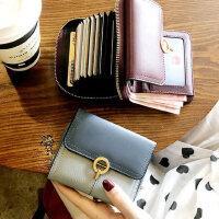 真皮折叠小巧钱包女短款精致高档小款卡包一体多功能2020新款时尚