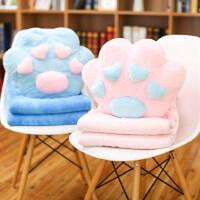 多功能午睡枕头抱枕被子两用可爱韩国卡通办公室汽车靠垫珊瑚绒被