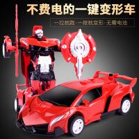 儿童汽车人回力变形玩具车 创意塑料机器人模型变型玩具