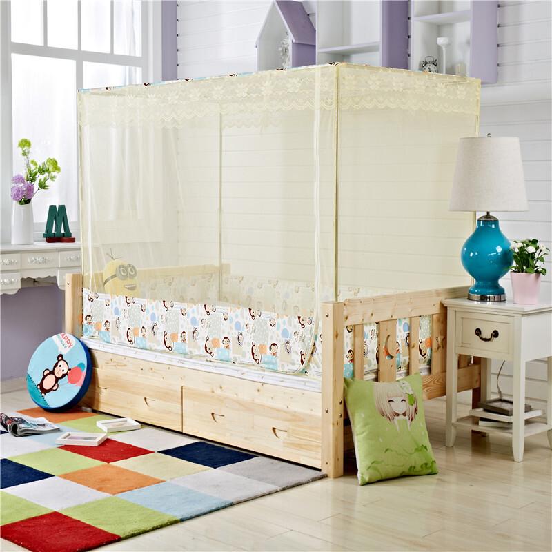 儿童床蚊帐90儿童蚊帐1米高低定做蚊帐单人床拼床