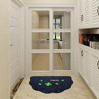 半圆形地垫 卫生间浴室吸水防滑垫进门入户卧室门口脚垫门垫地毯 50×70cm