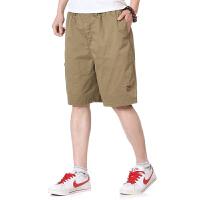 中年男士短裤夏季五分裤子纯棉中老年男装中裤宽松休闲全棉沙滩裤